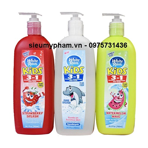 Sữa tắm trẻ em 3 trong 1 White Rain Kids Mỹ 783ml
