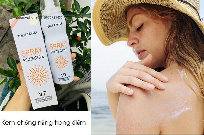 Bán buôn kem chống nắng Spray Protective V7