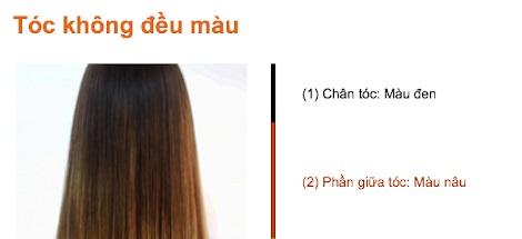 Cách nhuộm tóc 2 khúc màu