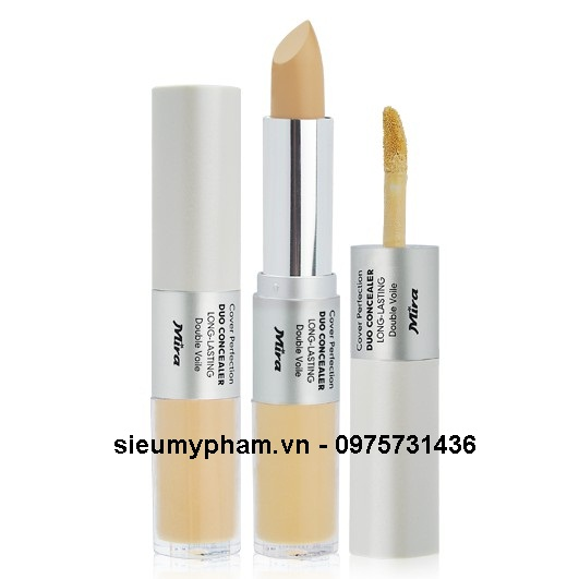 Kem che khuyết điểm 2 đầu MIra Cover Perfection Duo Concealer