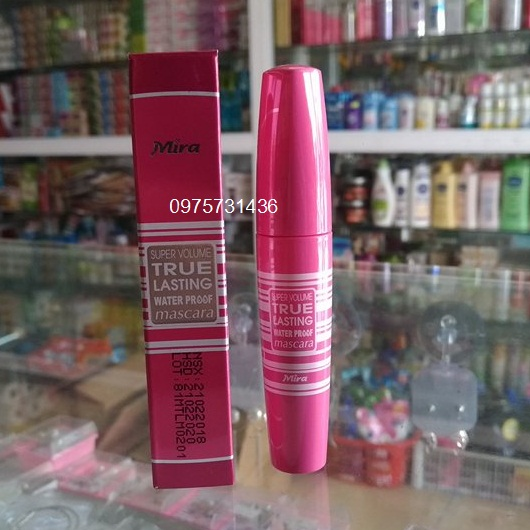Mascara Mira hồng Super Volume True Lasting Water Proof Hàn Quốc