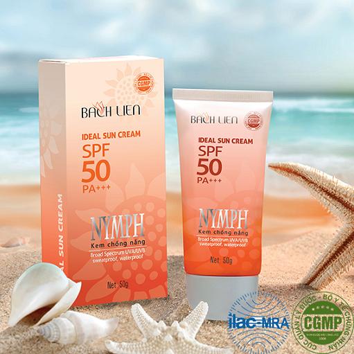 Kem chống nắng Bạch Liên Ideal Sun Cream Nymph SPF50 PA+++