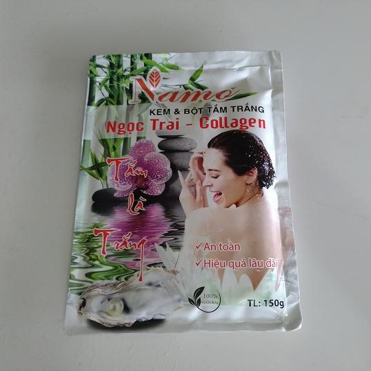 Kem tắm trắng Namo Ngọc Trai Collagen