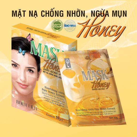 Mặt nạ chống nhờn trị mụn Honey Bạch Liên