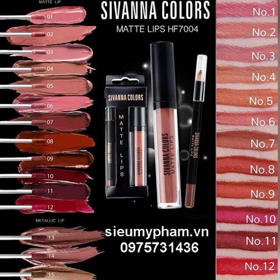 Son kem lì Sivanna Colors Matte Lips Thái Lan