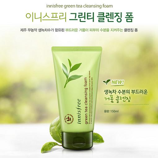 Sữa rửa mặt Innisfree Grean Tea Cleaning Foam 150ml