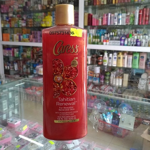 Sữa tắm Caress hương lựu Tahitian Renewal Mỹ 532ml