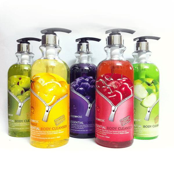Sữa tắm Foodaholic Essential Body Cleanser trái cây 750ml Hàn Quốc